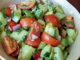 Tomato, Avocado & Cucumber Salad