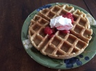 This delicious waffles are made with coconut and cashew flour.