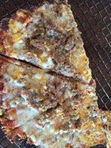 Sausage Zucchini pizza